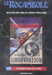 Revue Rocambole N.38 ; Les Réducteurs De Textes - Intérieur - Format classique