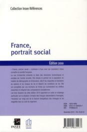 France, portrait social (édition 2010) - 4ème de couverture - Format classique