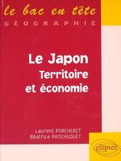 Le japon, territoire et economie - Intérieur - Format classique