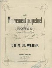 Le Mouvement Perpetuel - Rondo Pour Piano - Op.24. - Couverture - Format classique