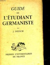 Guide De L'Etudiant Germaniste - Couverture - Format classique