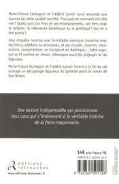 La saga des Francs-maçons - 4ème de couverture - Format classique