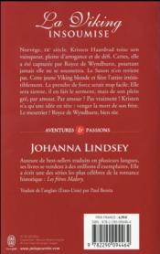 La viking insoumise - 4ème de couverture - Format classique