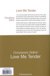 Love me tender - 4ème de couverture - Format classique