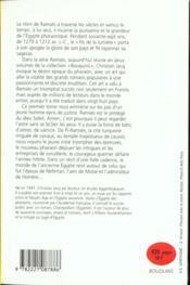 Ramses - tome 1 - bouquins - 4ème de couverture - Format classique