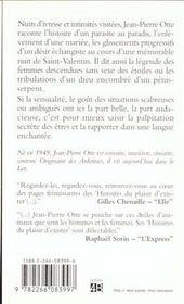 Histoires Du Plaisir D'Exister - 4ème de couverture - Format classique