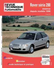 REVUE TECHNIQUE AUTOMOBILE N.612.1 ; Rover 200 ess 1.4 &1.6 depuis 96 - Couverture - Format classique