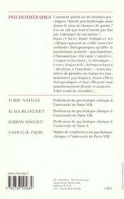 Psychotérapies - 4ème de couverture - Format classique