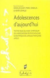 Adolescences d'aujourd'hui - Intérieur - Format classique