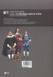 Le Bonheur Dans Le Crime - 4ème de couverture - Format classique