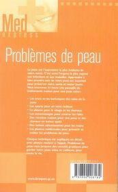Problèmes de peau - 4ème de couverture - Format classique