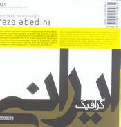Reza Abedini - 4ème de couverture - Format classique