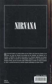 Le journal de kurt cobain - 4ème de couverture - Format classique