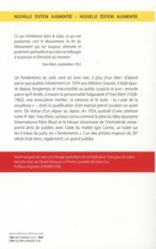 Les fondements du judo - 4ème de couverture - Format classique