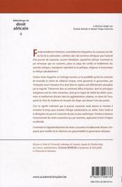 Pouvoirs et droits coutumiers à l'épreuve du temps - 4ème de couverture - Format classique