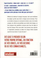Langue française ; 120 quiz pour vous tester - 4ème de couverture - Format classique