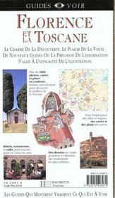 Guides Voir: Florence - 4ème de couverture - Format classique