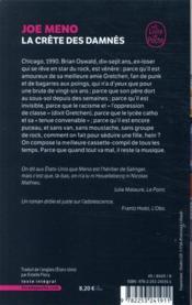 La crête des damnés - 4ème de couverture - Format classique