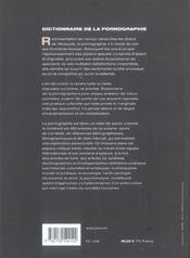 Dictionnaire de la pornographie - 4ème de couverture - Format classique