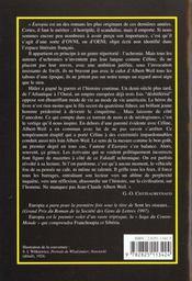 Europia - 4ème de couverture - Format classique