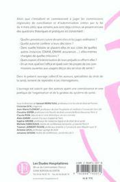 Manuel Des Commissions Regionales De Conciliation Et D'Indemnisation Des Accidents Medicaux, Des Aff - 4ème de couverture - Format classique