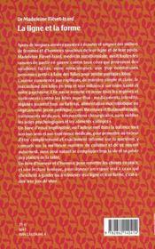 La ligne et la forme - 4ème de couverture - Format classique