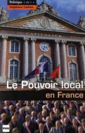 Le pouvoir local en France - Couverture - Format classique