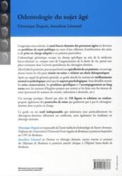 Odontologie du sujet agé ; spécificités et précautions - 4ème de couverture - Format classique