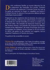 L'adieu à un proche ; propositions de cérémonies civiles - 4ème de couverture - Format classique
