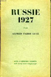 Russie 1927. - Couverture - Format classique