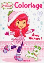 Coloriage avec stickers ; Charlotte aux Fraises - Couverture - Format classique