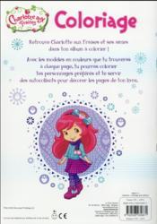 Coloriage avec stickers ; Charlotte aux Fraises - 4ème de couverture - Format classique