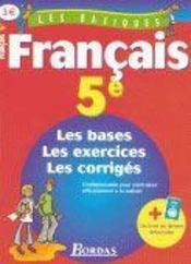 LES BASIQUES BORDAS ; francais ; 5eme - Intérieur - Format classique