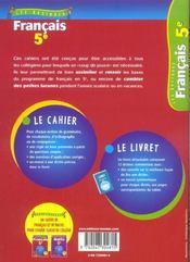 LES BASIQUES BORDAS ; francais ; 5eme - 4ème de couverture - Format classique