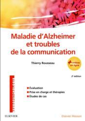 Maladie d'Alzheimer et troubles de la communication - Couverture - Format classique