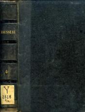 Oeuvres Completes De J. J. Rousseau, Tome Iv, Melanges, I - Couverture - Format classique