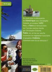 Les enquêteurs du net ; sur une île inconnue avec Christophe Colomb - 4ème de couverture - Format classique