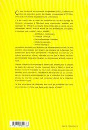 Chimie Dissequee A L'Usage Des Bio Cours Detaille Et Exercices Corriges Bcpst Veto 1re Annee - 4ème de couverture - Format classique