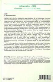 Lille Et Sa Region Urbaine ; La Bifurcation Metropolitaine - 4ème de couverture - Format classique