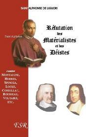 Réfutation des matérialistes et des déistes - Couverture - Format classique