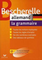 Bescherelle allemand ; la grammaire - Intérieur - Format classique