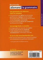 Bescherelle allemand ; la grammaire - 4ème de couverture - Format classique