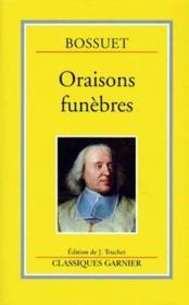Oraisons funebres - Couverture - Format classique