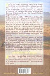 Mémoires des sables ; en haute asie sur la piste oubliée d'ella maillart et peter fleming - 4ème de couverture - Format classique