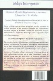 La biologie des croyances - 4ème de couverture - Format classique