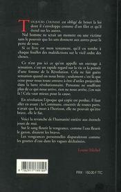 Mémoires de Louise Michèle - 4ème de couverture - Format classique