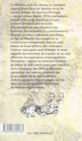 Memoire et le feu : portugal (la) - 4ème de couverture - Format classique