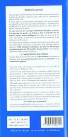 Les Miniatures Dautomobiles - 4ème de couverture - Format classique