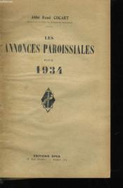 Les Annonces Paroissiales Pour 1934 - Couverture - Format classique