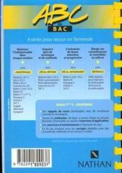 Maths S Methode Vol.1 - Couverture - Format classique
